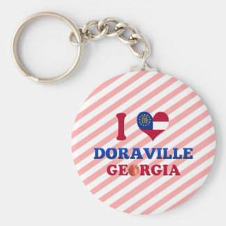 I Love Doraville, Georgia Basic Round Button Keychain