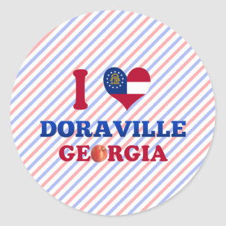 I Love Doraville, Georgia Classic Round Sticker