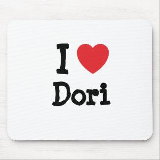 I love Dori heart T-Shirt Mouse Pad