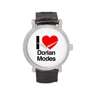 i love dorian modes wristwatches