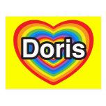 I love Doris. I love you Doris. Heart Post Card