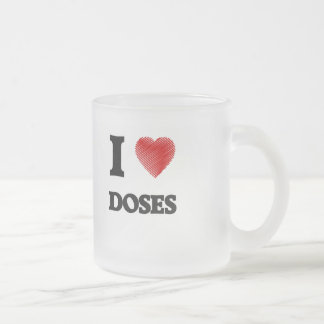 I love Doses Frosted Glass Coffee Mug