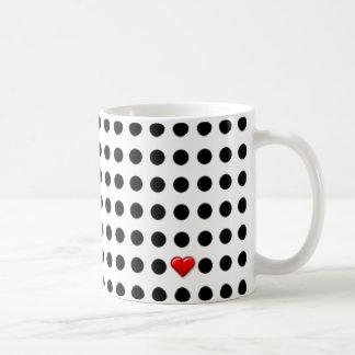 I Love Dots Classic White Coffee Mug