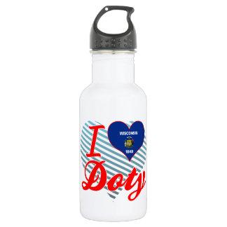 I Love Doty, Wisconsin 18oz Water Bottle