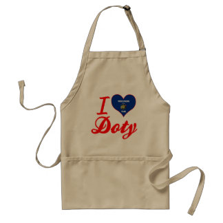 I Love Doty, Wisconsin Adult Apron