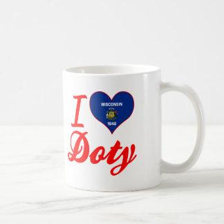 I Love Doty, Wisconsin Classic White Coffee Mug