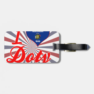 I Love Doty, Wisconsin Bag Tags