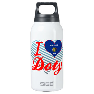 I Love Doty, Wisconsin 10 Oz Insulated SIGG Thermos Water Bottle