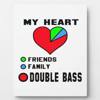 I love Double Bass. Photo Plaques