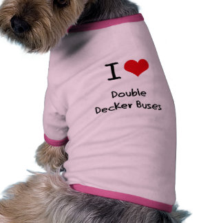 I Love Double Decker Buses Dog Clothing