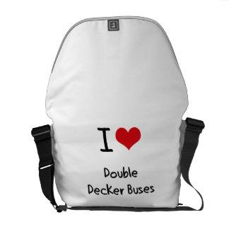 I Love Double Decker Buses Messenger Bags