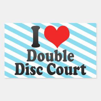 I love Double Disc Court Sticker
