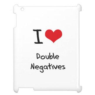I Love Double Negatives iPad Cases