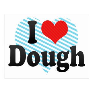 I Love Dough Postcard
