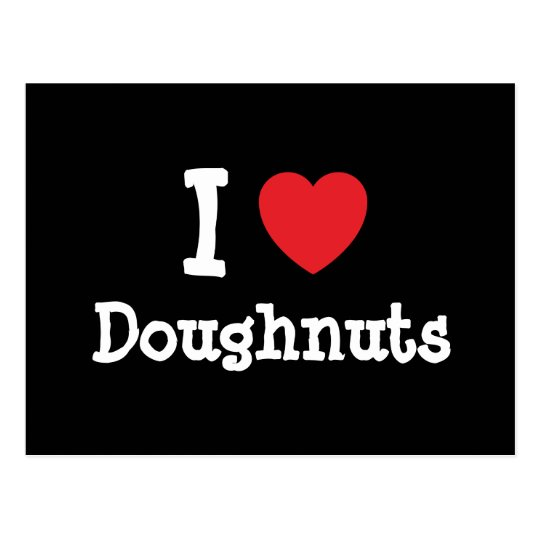 I love Doughnuts heart T-Shirt Postcard