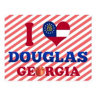 I Love Douglas, Georgia Postcard