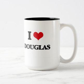 I Love Douglas Two-Tone Coffee Mug