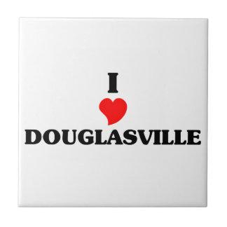 I love Douglasville Small Square Tile