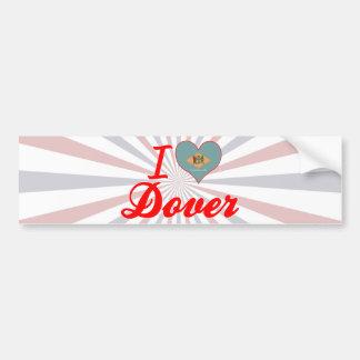I Love Dover, Delaware Bumper Sticker