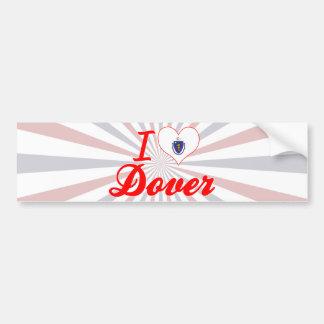 I Love Dover, Massachusetts Bumper Sticker