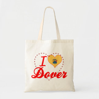 I Love Dover New Jersey Tote Bags