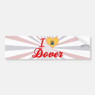 I Love Dover, New Jersey Bumper Stickers