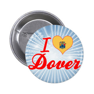 I Love Dover New Jersey Pinback Button