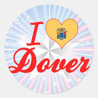 I Love Dover, New Jersey Round Sticker