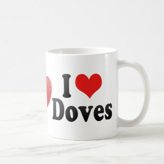 I Love Doves Mug