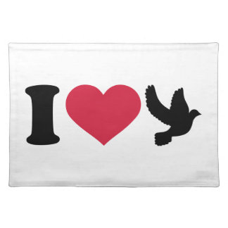 I love doves cloth place mat