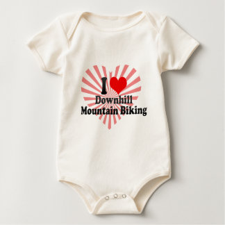 I love Downhill Mountain Biking Baby Bodysuit