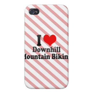 I love Downhill Mountain Biking Case For iPhone 4