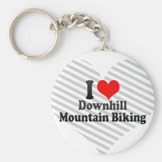 I love Downhill Mountain Biking Key Chain