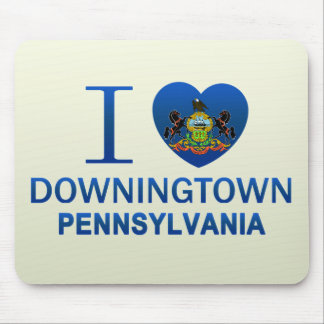 I Love Downingtown, PA Mouse Pad