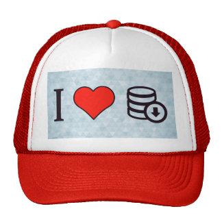 I Love Downloading Data Trucker Hat