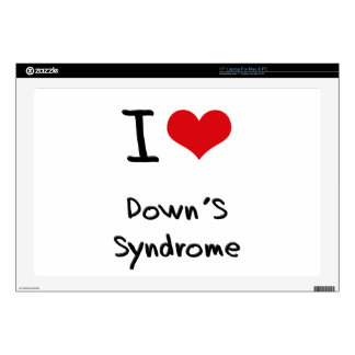 "I Love Down's Syndrome 17"" Laptop Decal"