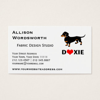I Love Doxies - Black and Tan Dachshund Business Card