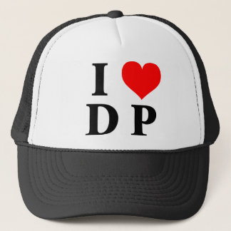 I Love DP Trucker Hat