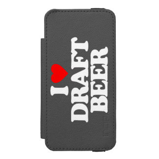 I LOVE DRAFT BEER iPhone SE/5/5s WALLET CASE