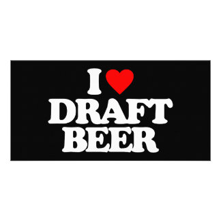 I LOVE DRAFT BEER PHOTO CARD TEMPLATE