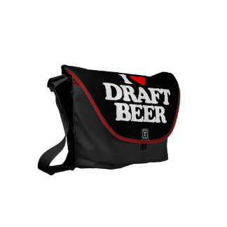 I LOVE DRAFT BEER SMALL MESSENGER BAG