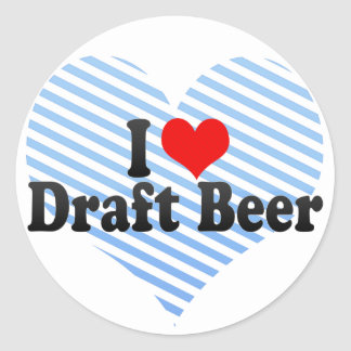 I Love Draft Beer Stickers