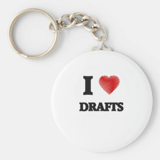 I love Drafts Keychain