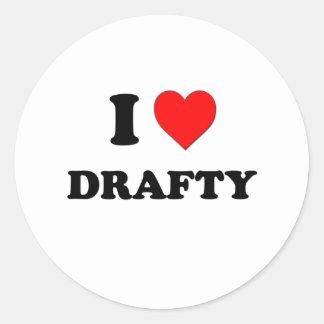I Love Drafty Sticker