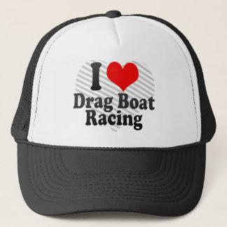 I love Drag Boat Racing Trucker Hat