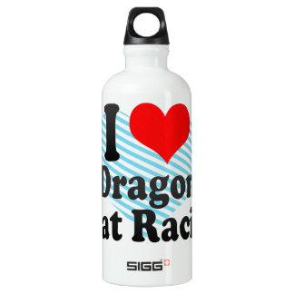 I love Dragon Boat Racing Aluminum Water Bottle