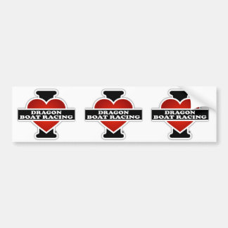 I Love Dragon Boat Racing Bumper Sticker