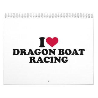 I love Dragon boat racing Calendar