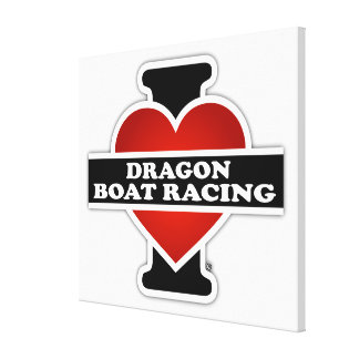 I Love Dragon Boat Racing Canvas Print
