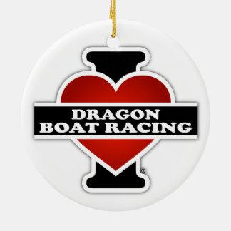 I Love Dragon Boat Racing Ceramic Ornament
